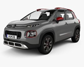 3D model of Citroen C3 Aircross 2018