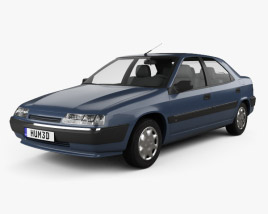 3D model of Citroen Xantia hatchback 1994