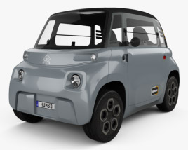 3D model of Citroen Ami 2021