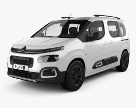 3D model of Citroen Berlingo 2018