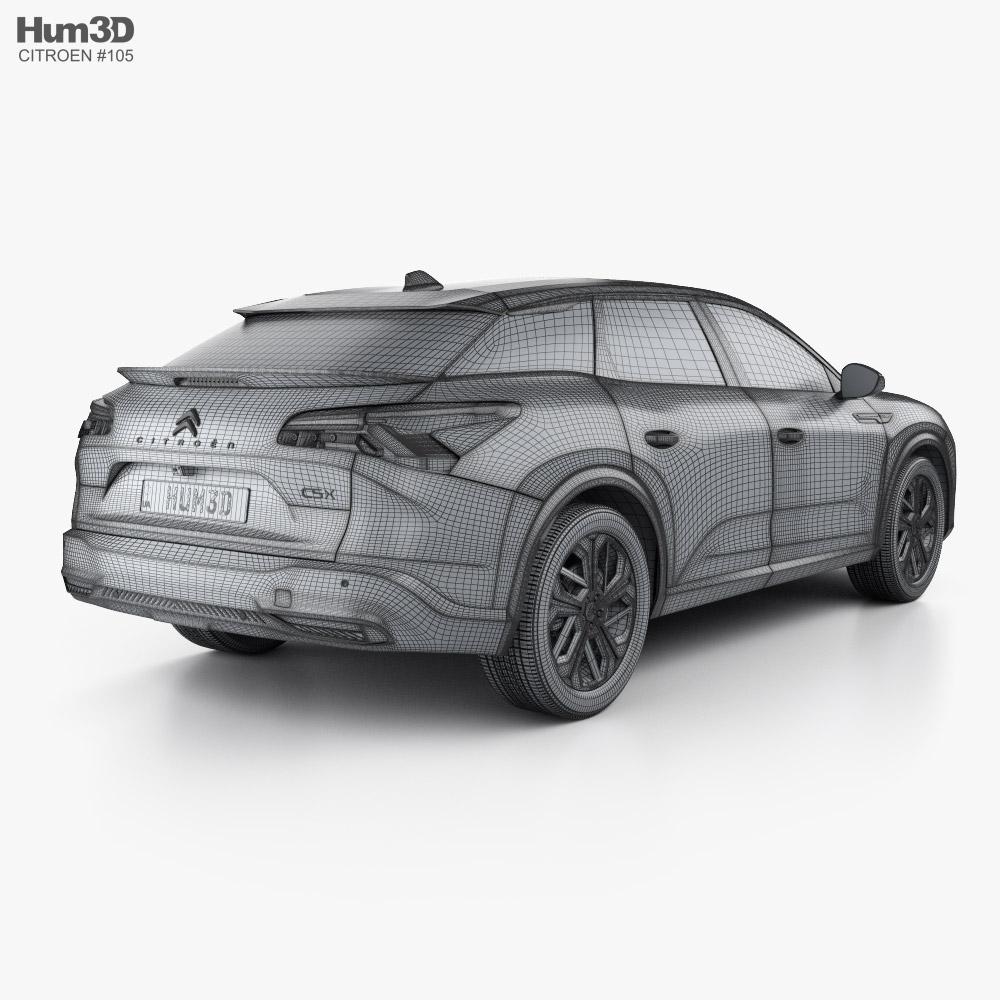 Citroen C5 X 2021 3d Model Vehicles On Hum3d Citroen 19 19 concept 2019 5k 5