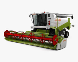 3D model of Claas Lexion 480 Combine Harvester 1996