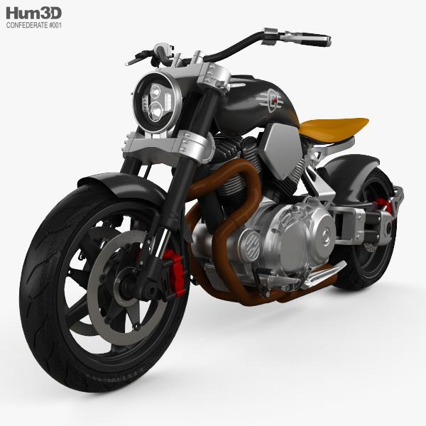 3D model of Confederate X132 Hellcat Speedster 2015
