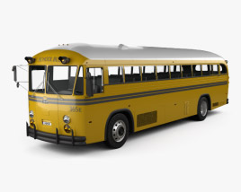 3D model of Crown Supercoach Bus 1977