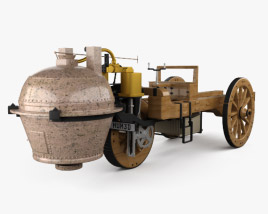 3D model of Cugnot Fardier a vapeur 1771