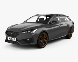 3D model of Cupra Leon sportstourer 2020