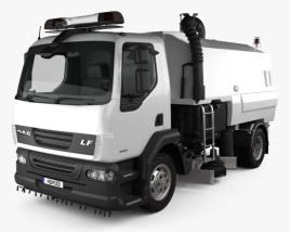 3D model of DAF LF Road Cleaner 2011
