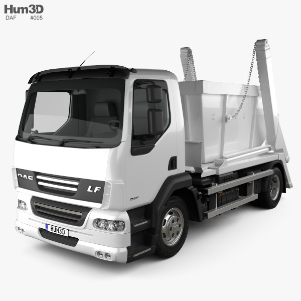 3D model of DAF LF Skip Loader 2011
