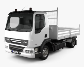3D model of DAF LF Dropside Tipper 2011