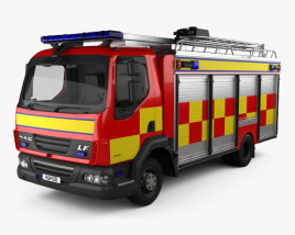 3D model of DAF LF Fire Truck 2011