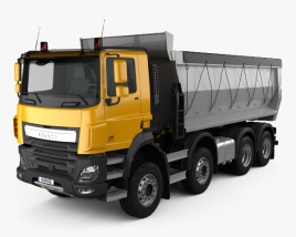 3D model of DAF CF Tipper Truck 2013