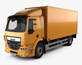 3D model of DAF LF Box Truck 2013