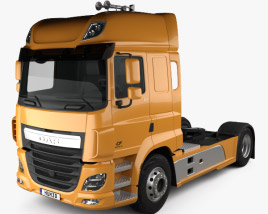 3D model of DAF CF Tractor Truck 2013