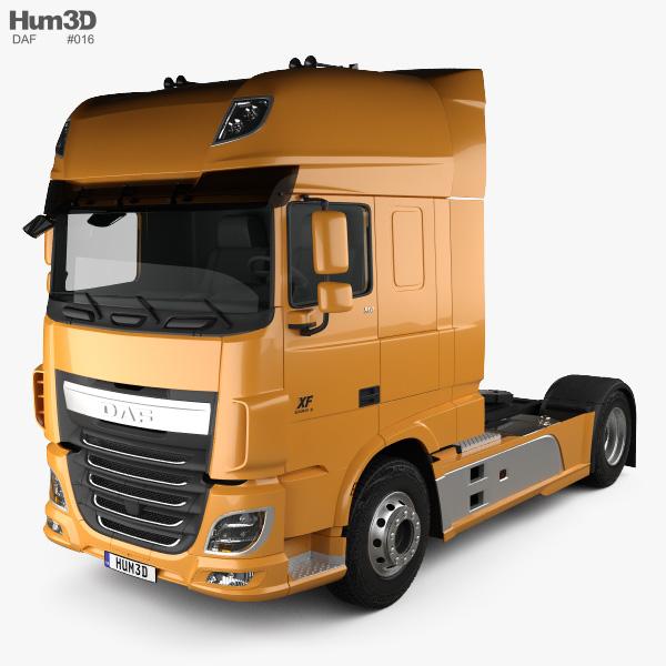 DAF XF Tractor Truck 2013 3D model