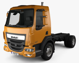 3D model of DAF LF 250 Chassis Truck 2013