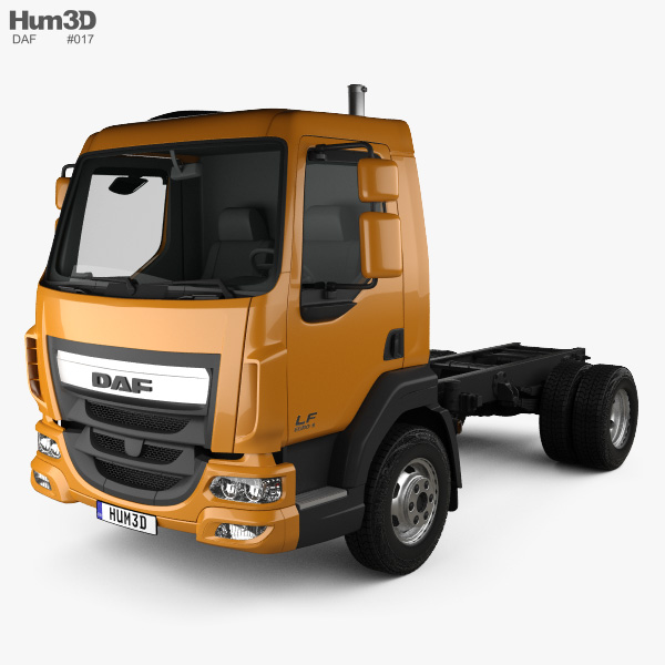 DAF LF 250 Chassis Truck 2013 3D model