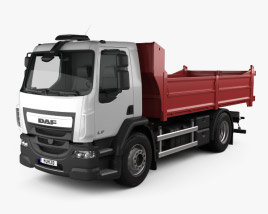 3D model of DAF LF Tipper Truck 2013