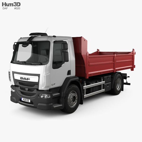 DAF LF Tipper Truck 2013 3D model