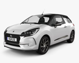 3D model of DS3 Performance Line Сabriolet 2016