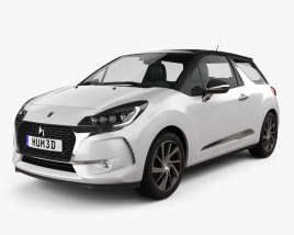 3D model of DS3 Performance Line hatchback 2016