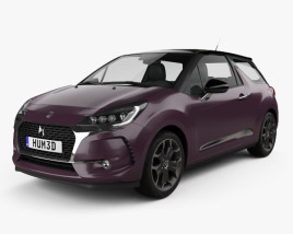 3D model of DS3 Prestige hatchback 2016