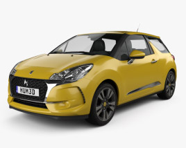 3D model of DS3 Chic hatchback 2016