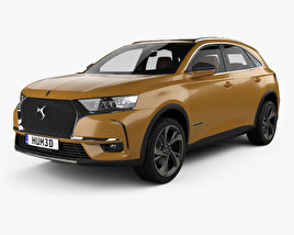 3D model of DS 7 Crossback with HQinterior 2017