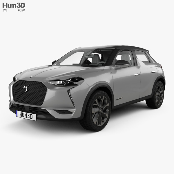 3D model of DS 3 Crossback E-Tense with HQ interior 2019