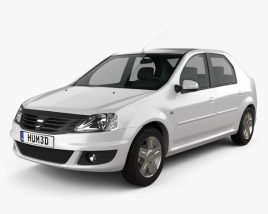 3D model of Dacia Logan 2010