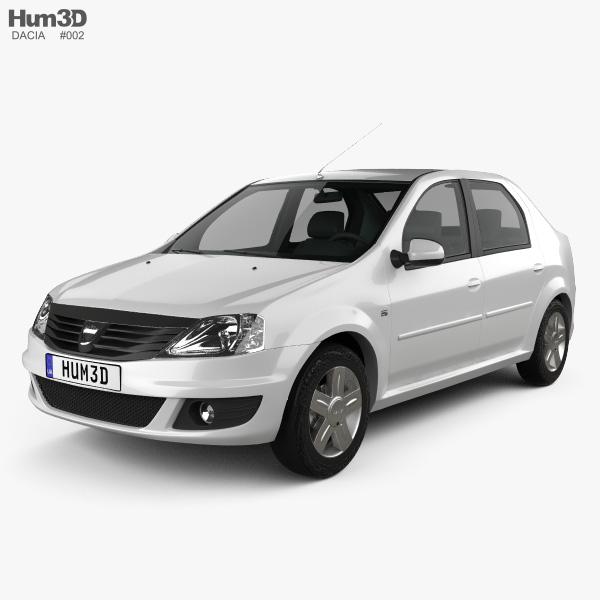 3D model of Dacia Logan 2010
