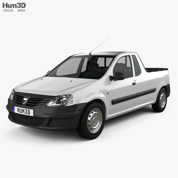 3D model of Dacia Logan Pickup 2011