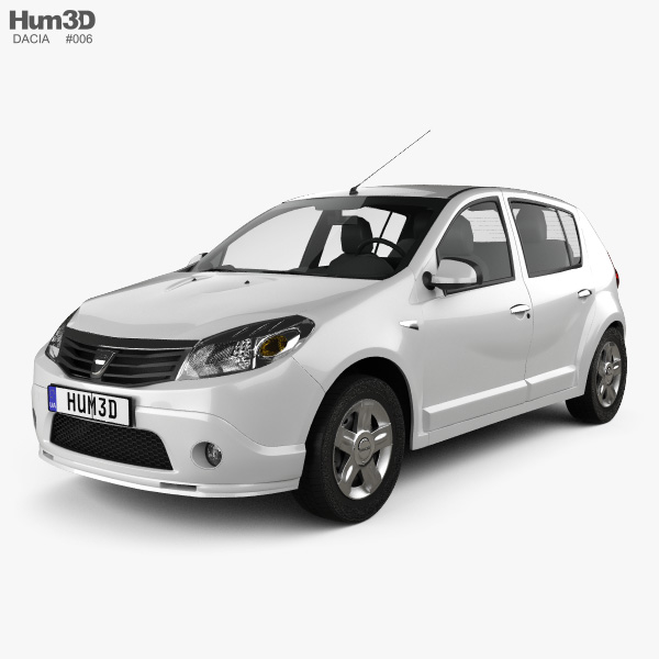 3D model of Dacia Sandero 2011