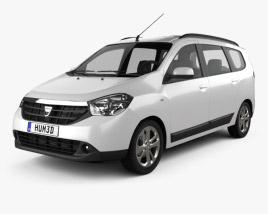 3D model of Dacia Lodgy 2012