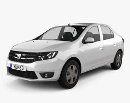 Dacia Logan II sedan 2013 3D model