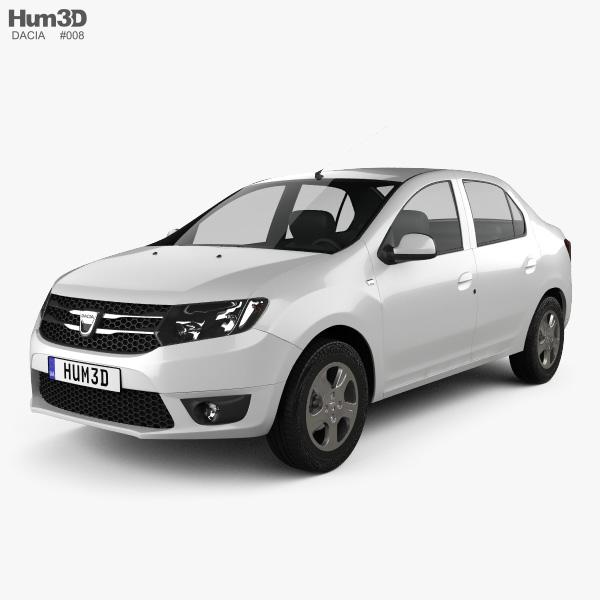 3D model of Dacia Logan II sedan 2013