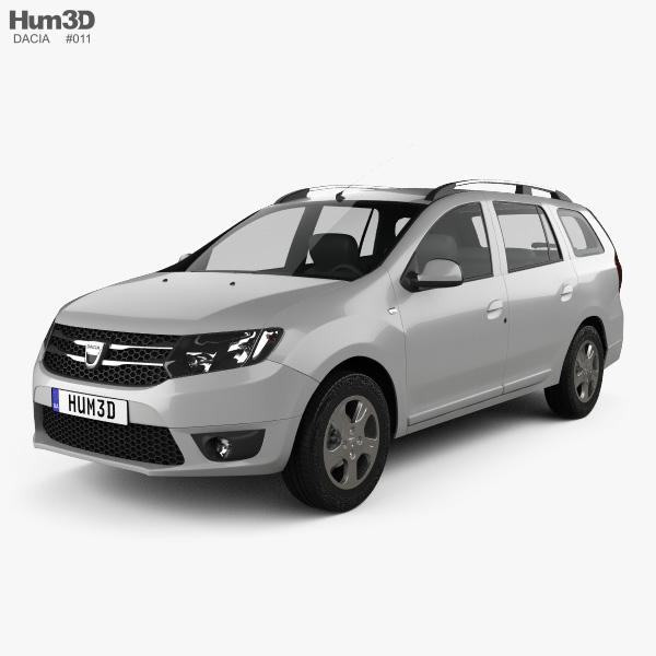 3D model of Dacia Logan MCV 2013
