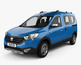 3D model of Dacia Dokker Stepway 2014