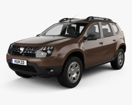 3D model of Dacia Duster 2015