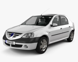 3D model of Dacia Logan with HQ interior 2004