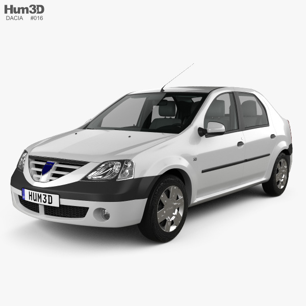 3D model of Dacia Logan with HQ interior 2004