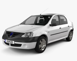 3D model of Dacia Logan 2004