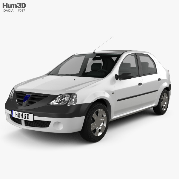 3D model of Dacia Logan 2004