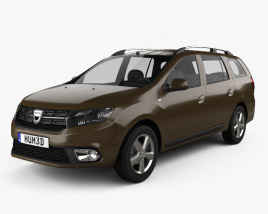 3D model of Dacia Logan MCV 2016