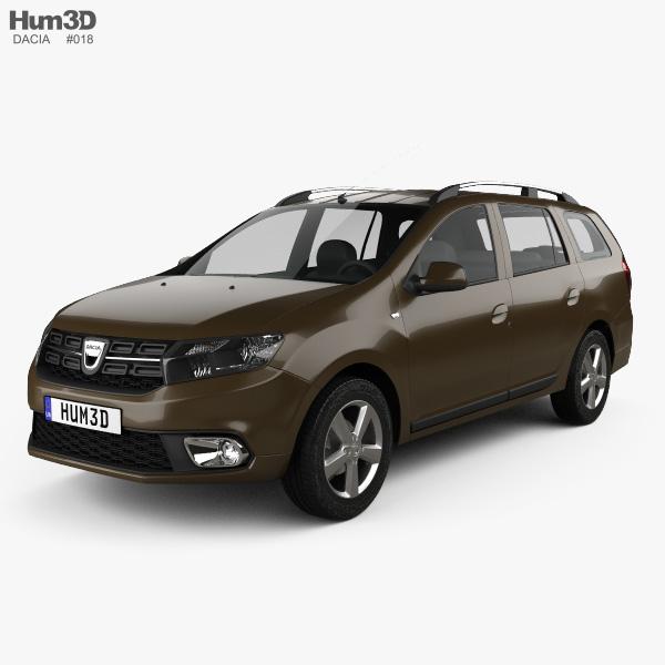3D model of Dacia Logan MCV 2016
