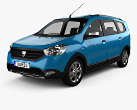 3D model of Dacia Lodgy Stepway 2014