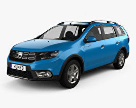 3D model of Dacia Logan MCV Stepway 2017