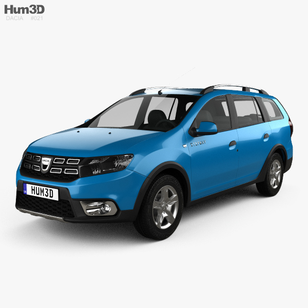 3D model of Dacia Logan MCV Stepway 2017
