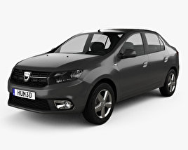 3D model of Dacia Logan sedan 2016