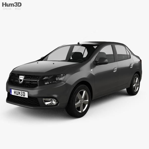 3D model of Dacia Logan sedan 2016