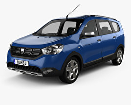 3D model of Dacia Lodgy Stepway 2016